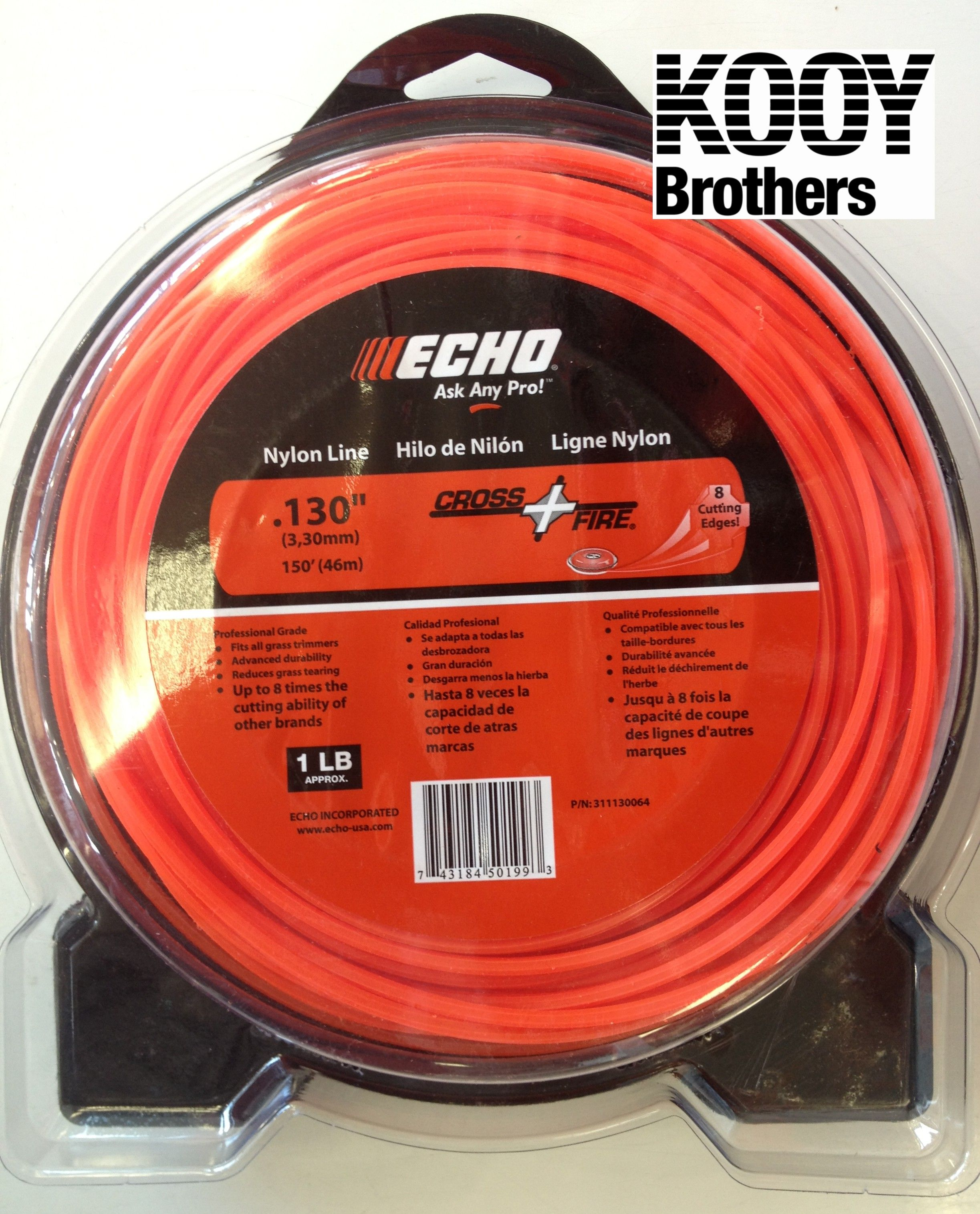 ECHO .130 Replacement Trimmer Line 1lb roll