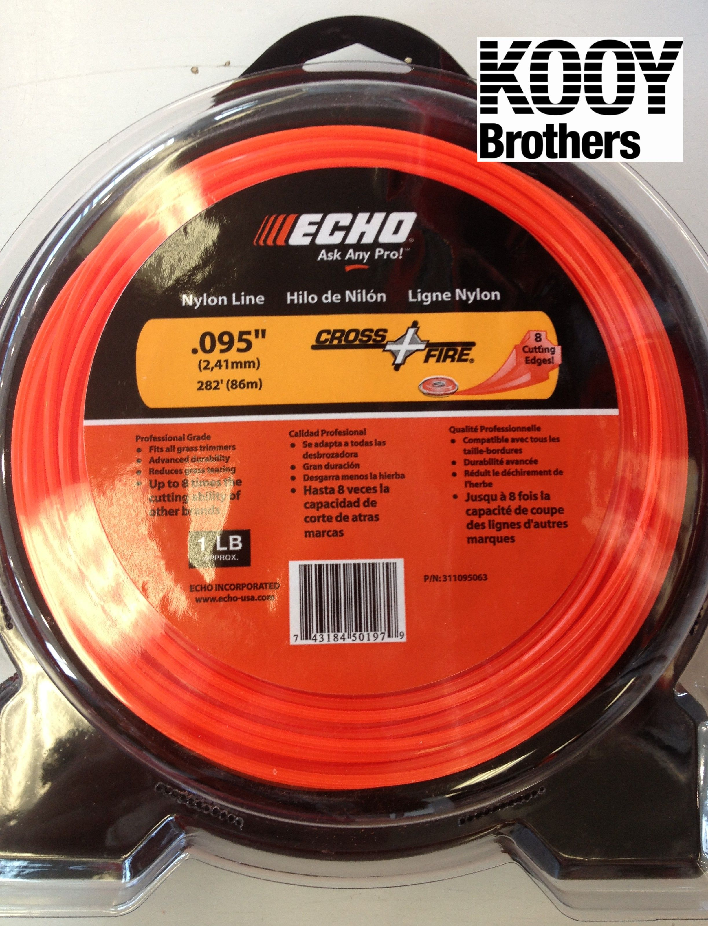 ECHO .095 Replacement Trimmer Line 1lb roll