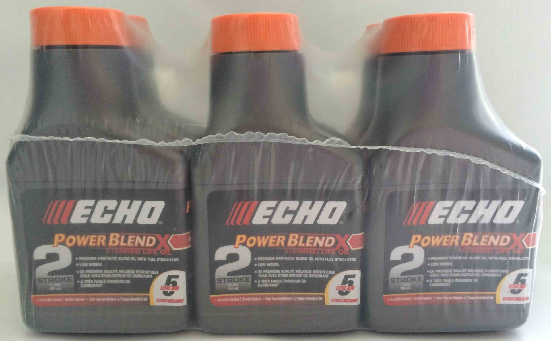 ECHO Premium Synthetic Powerblend oil in 100mL bottles x 6