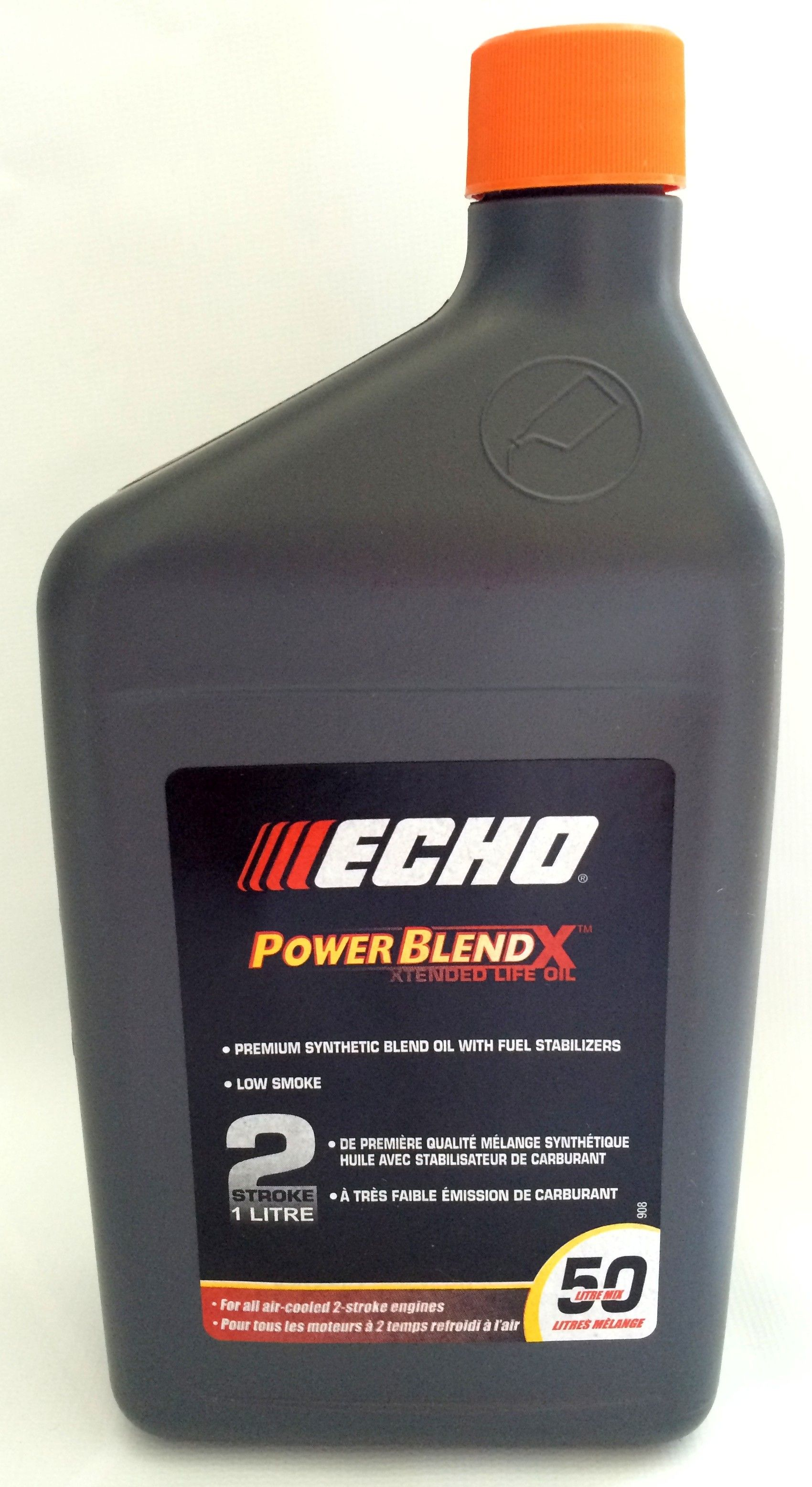 ECHO 1 litre bottle of Premium Synthetic 2-stroke oil