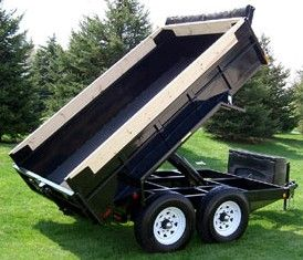 Heavy Duty Dump Tandem Trailer HDD 510 by JDJ (5' W x 10' L)