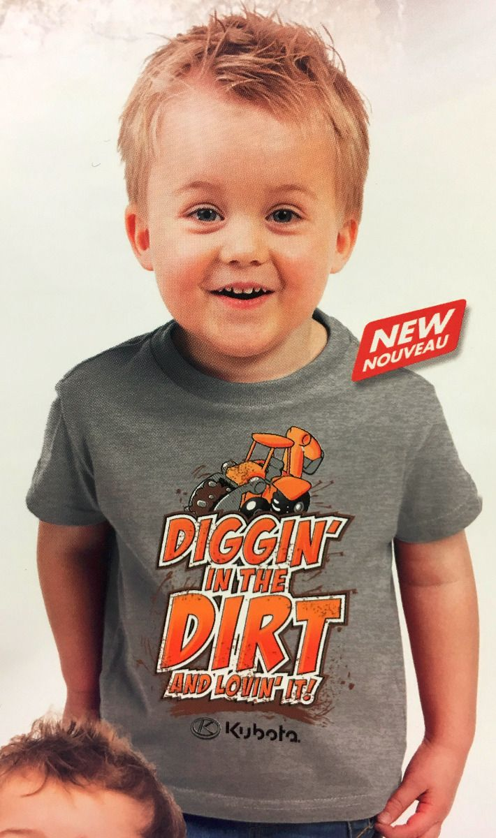 Kubota Digging in the Dirt Toddler Tshirt