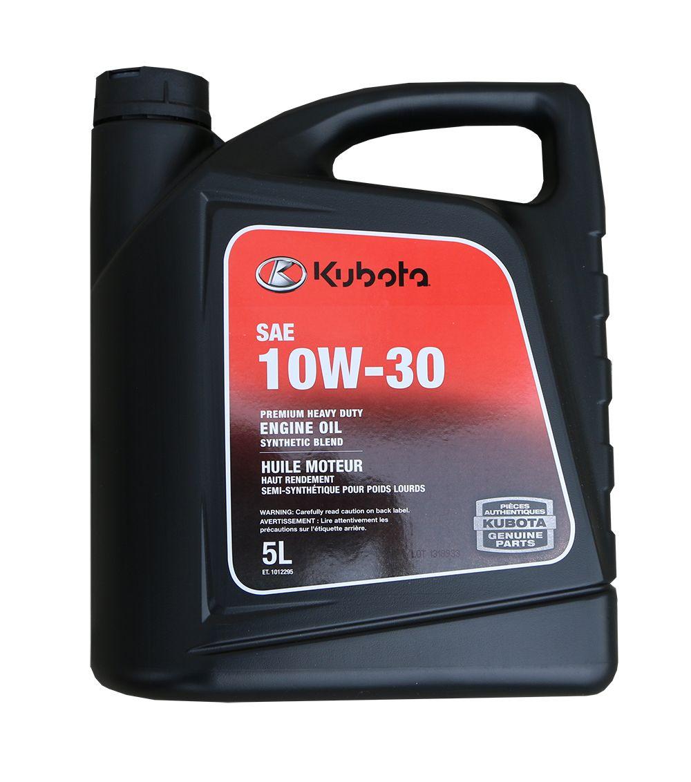 kubota SAE 10W 30 5litre oil jug