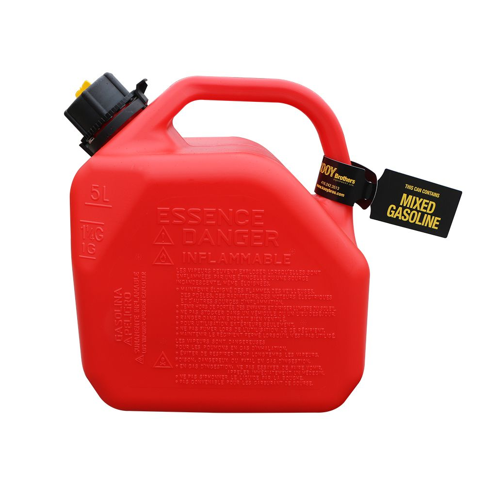 Mixed Gasoline Gas Can Tag