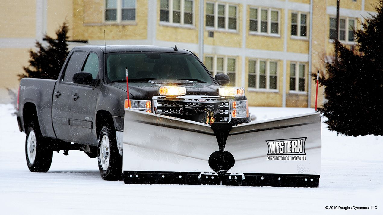 Western 8.5' Fleet Flex MVP3 SS Snowplow with Handheld controller
