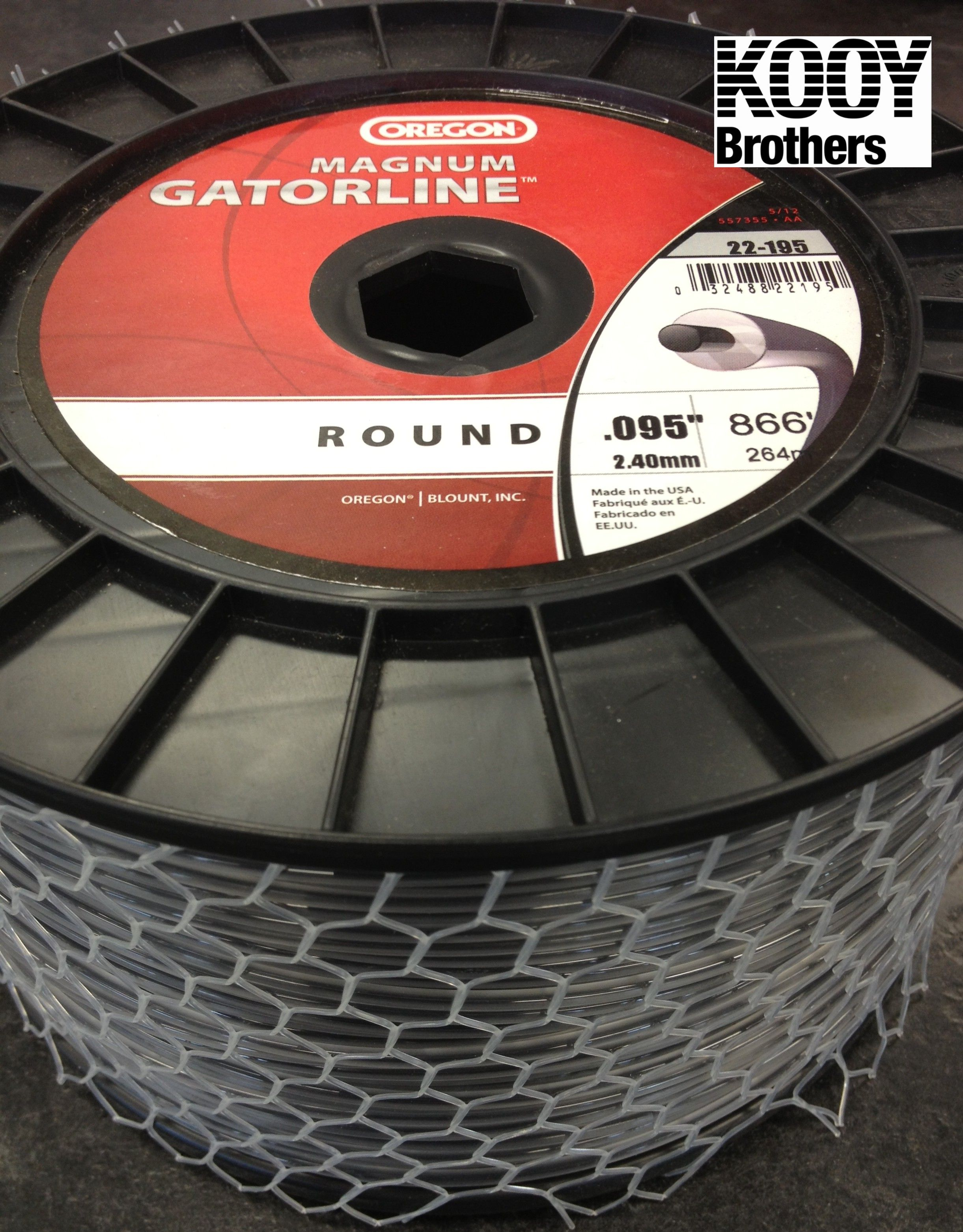 ROUND Magnum Gatorline Trimmer Line 3lb roll