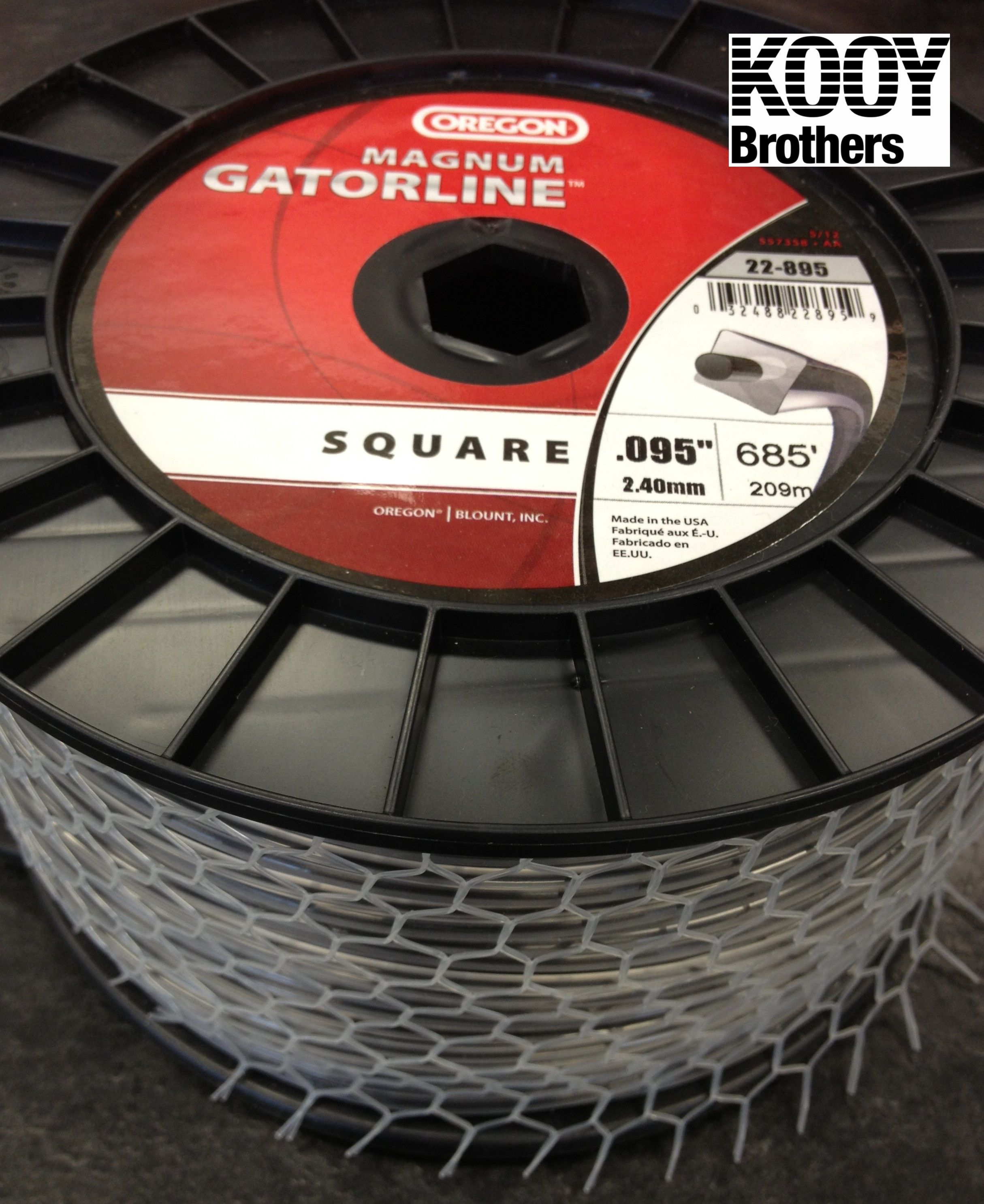 SQUARE Magnum Gatorline Trimmer Line 3lb roll