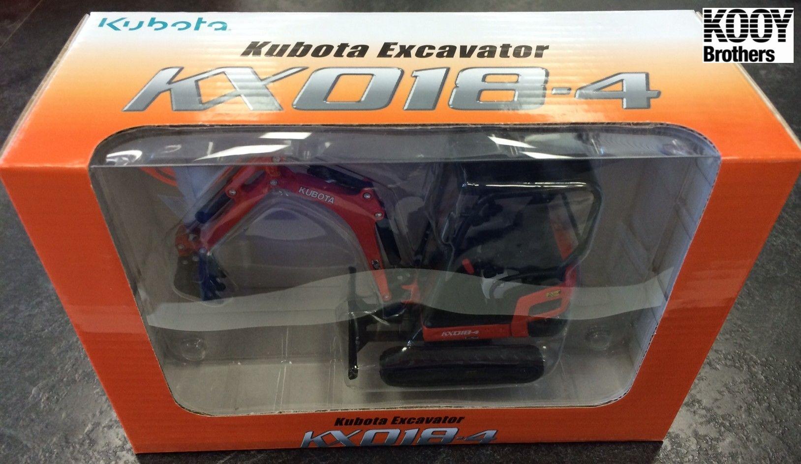Kubota DieCast Collector Toy Excavator Model KX018-4