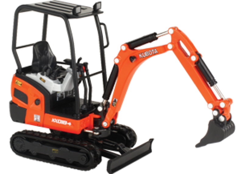 KUBOTA KX018-4 COLLECTIBLE EXCAVATOR 1:24 SCALE