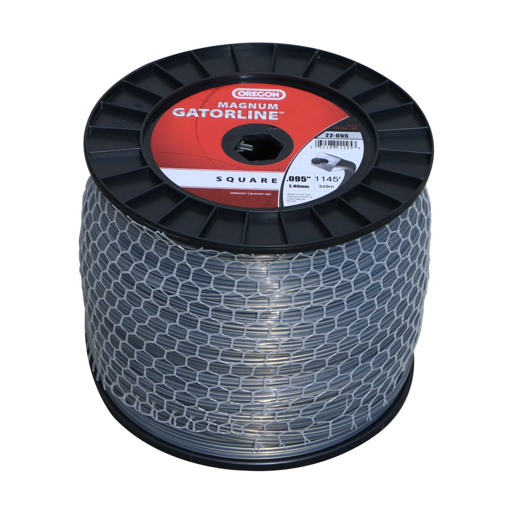 "Oregon .095"" SQUARE Magnum Gatorline Replacement Line 5lb roll"