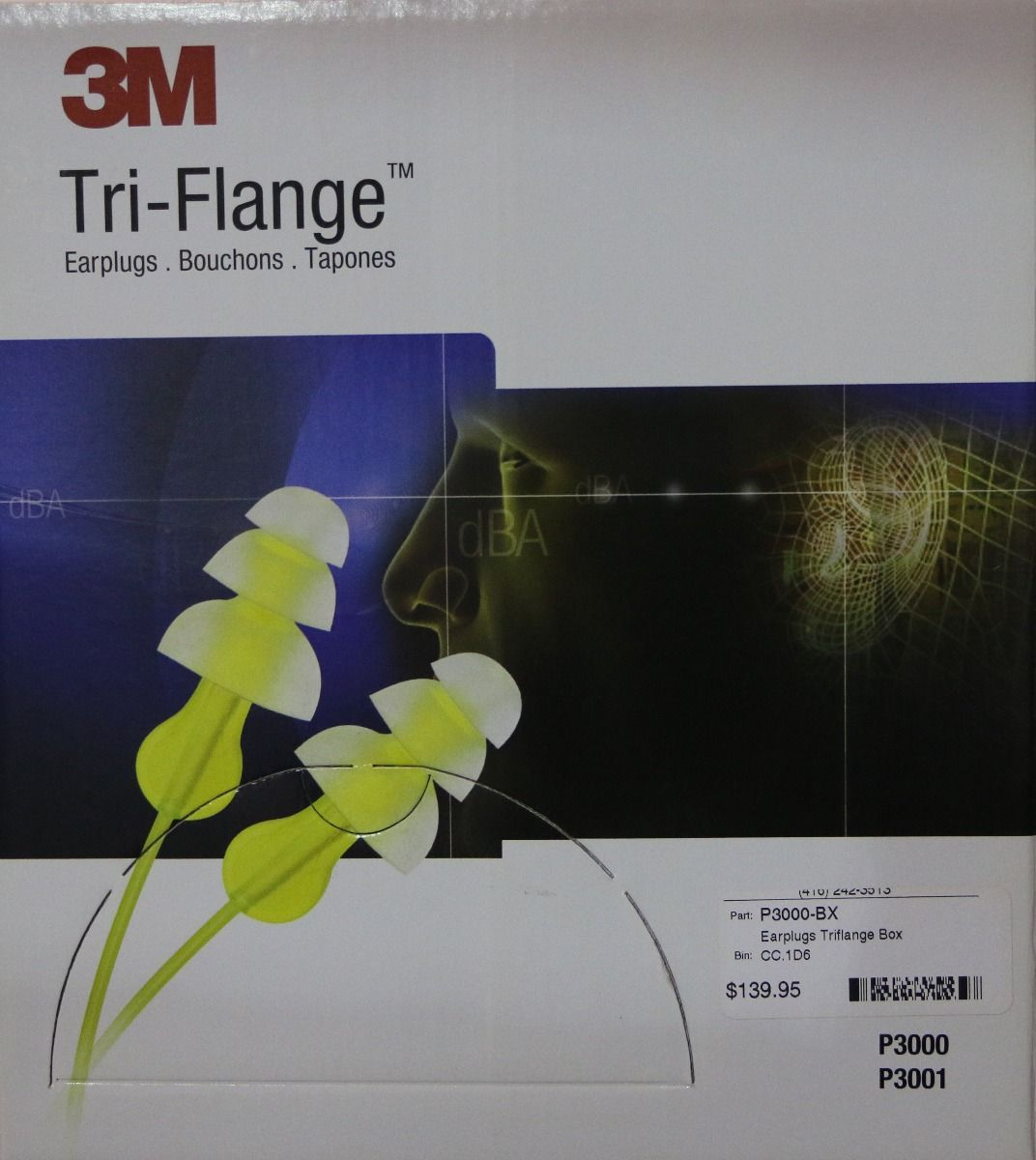 3M P3000 Tri-Flange Ear plugs