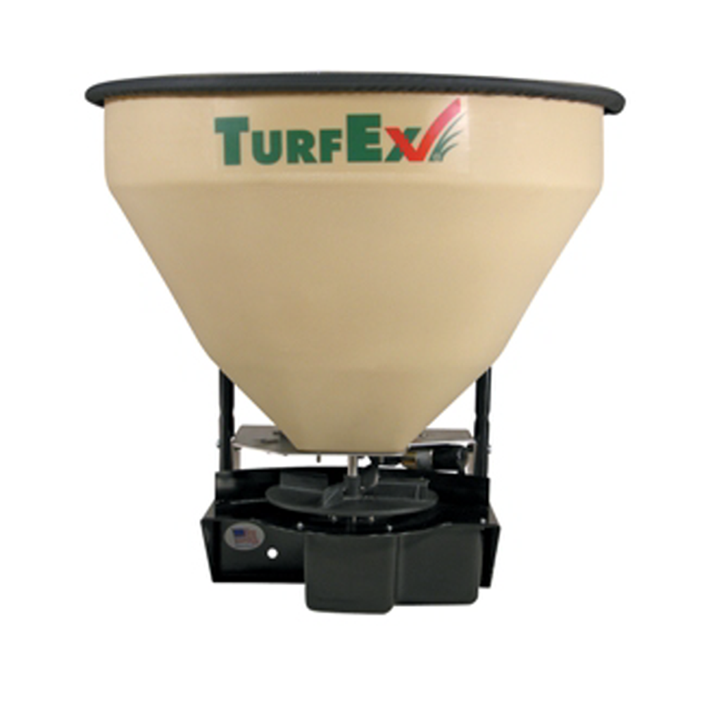 TurfEx TS300EG Equipment Mounted Spreader w/electric-controlled flow gate 3 cu.ft.