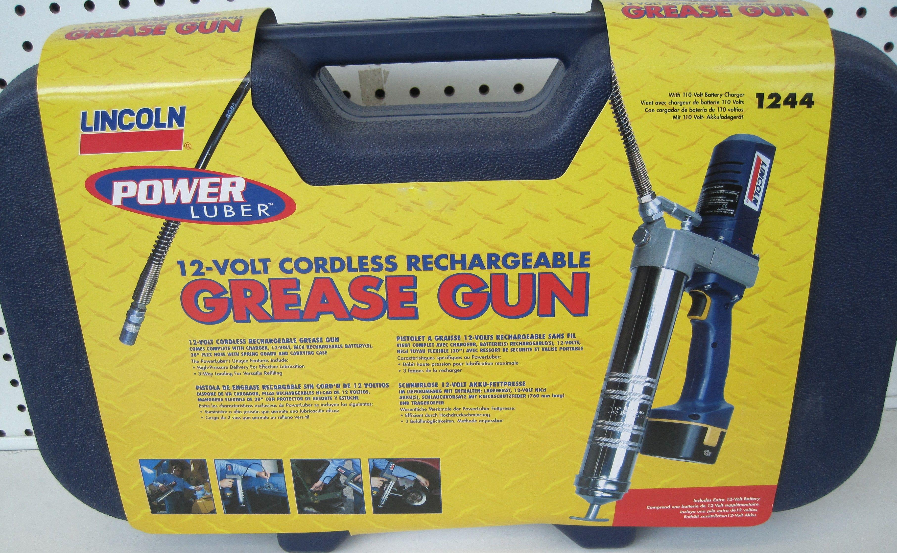 12 volt cordless rechargable Grease Gun by Lincoln LIN-1244