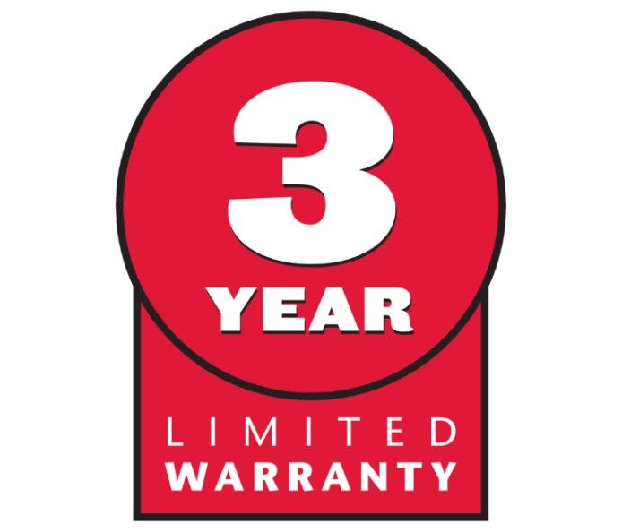 3-Year Limited Warranty - Product is warranted against defects in materials and workmanship for three years. See retailer for full warranty details.