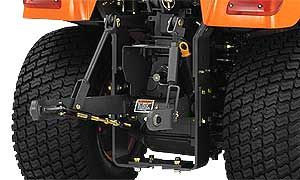 Put your BX-Series to work with its Category I 3-point hitch. This sturdy, hydraulically controlled hitch allows you to attach a wide array of rear implements.