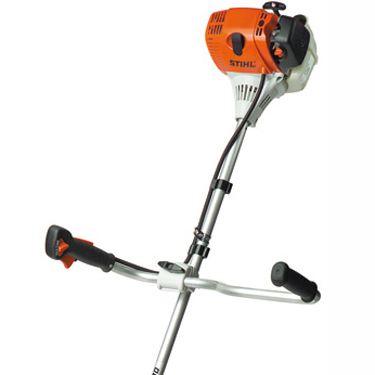 When used with a harness, the bike handle allows the machine to be easily guided, enabling a smooth horizontal mowing action to cover large areas quickly & efficiently.