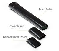 Multiple Tubes for Specialized Uses - This blower includes multiple inserts for multiple applications