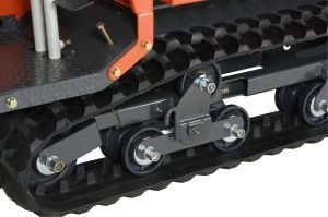 Bogie-type under rollers allow more stable travel