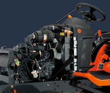 Kubota diesel engine - 3-cylinder workhorse engine offers unparalleled power for tractors this size, and more than enough muscle for all your gardening and mowing duties.