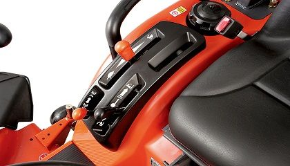 Features a large angled lever guide, for hassle-free shifting, fast control lever recognition and easy operation.