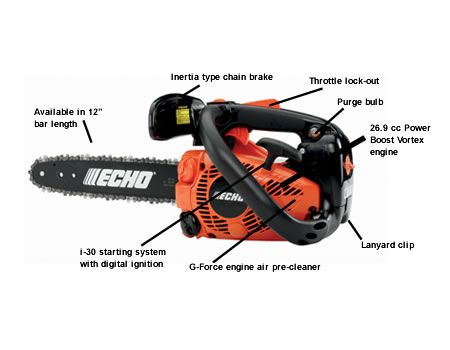 ECHO CS 271T chainsaw with descriptions
