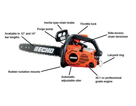 ECHO CS-303T Chainsaw with details
