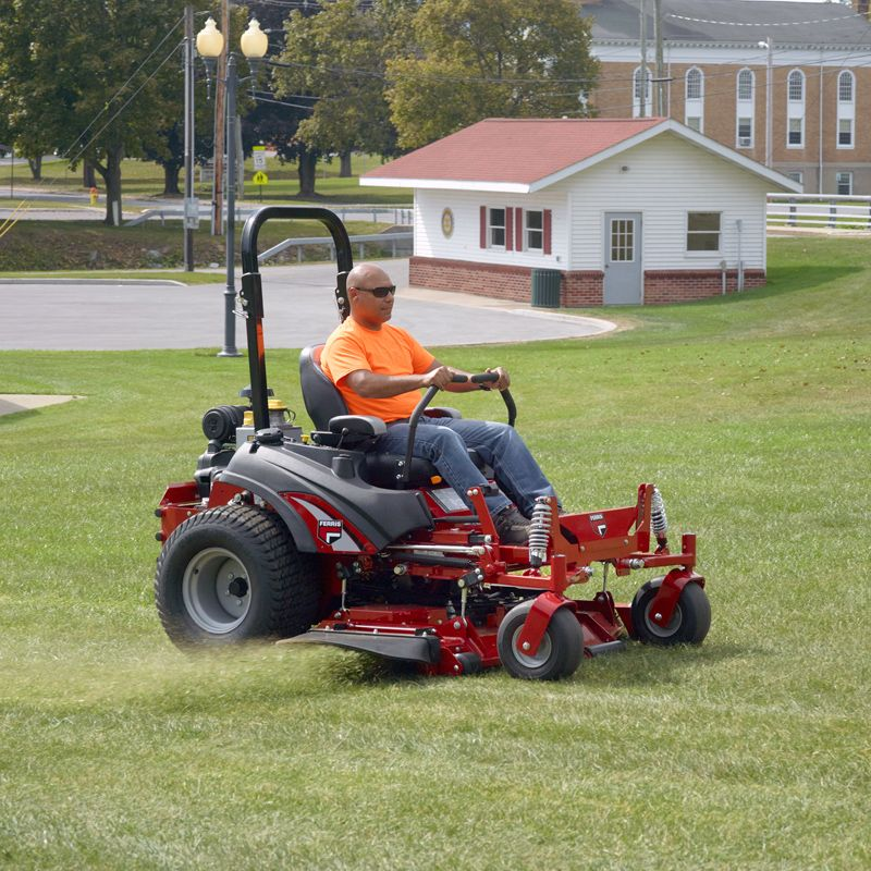 Patented suspension technology turns slow, bumpy mowing into riding comfort and enhanced productivity
