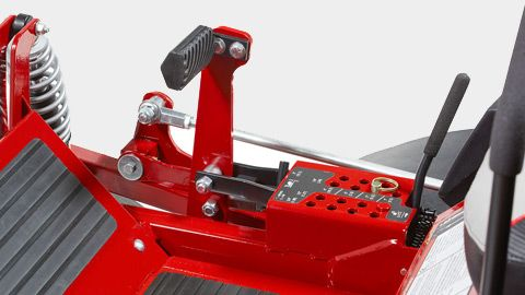 "With the adjustable pedal, change cut height in 1/4"" increments from 1.5""-5""."