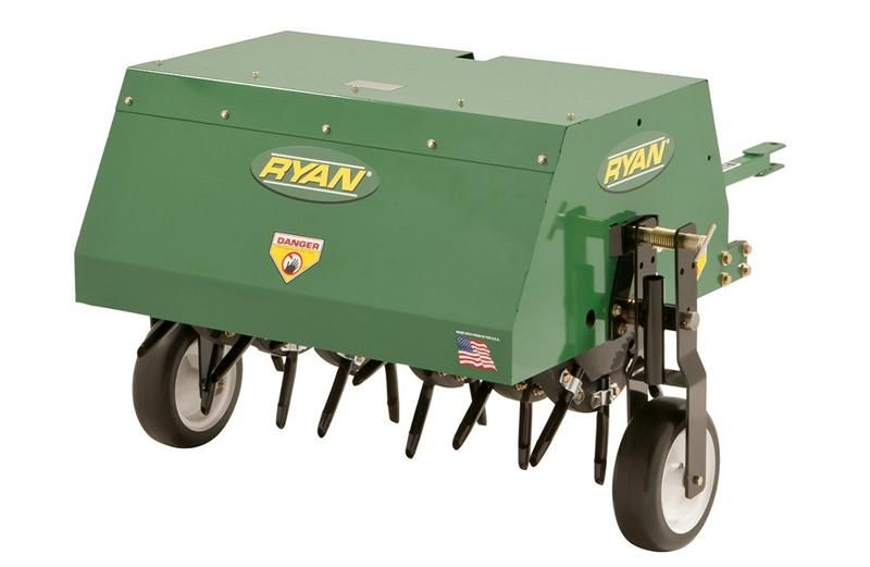 Lawnaire® Tow-Behind Aerator Back Close-up