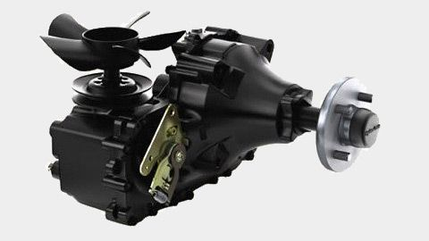 Fully serviceable commercial Hydro-Gear® ZT-4400™ transaxles deliver power and durability.