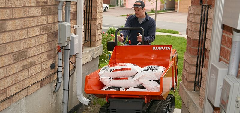 Kubota KC70 is perfect for fitting through tight spaces with a heavy load