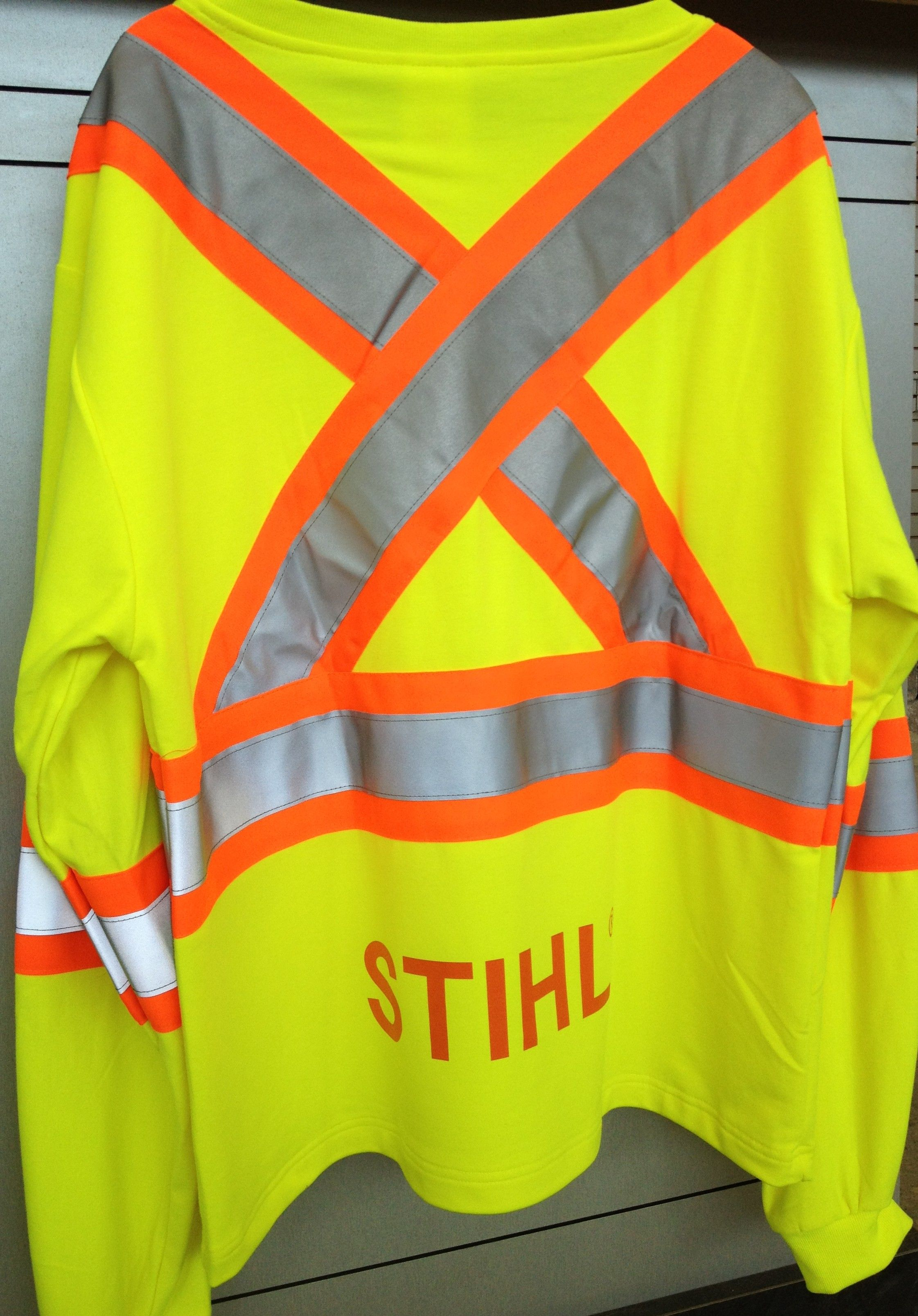 STIHL long sleeve safety shirt with reflective striping