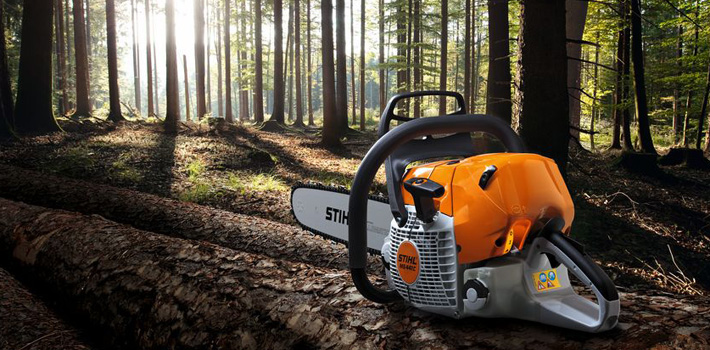 Stihl MS 441 C-M in the forest