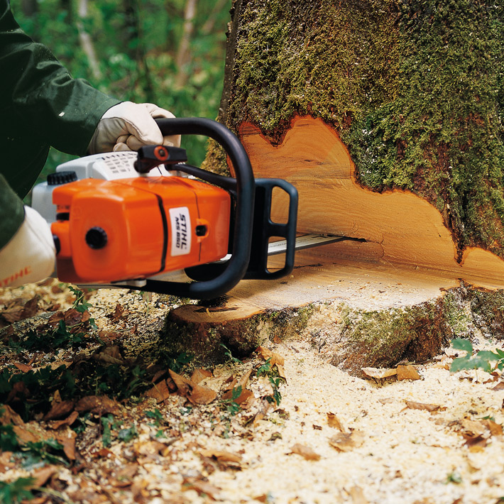 STIHL MS 661 C-M in use