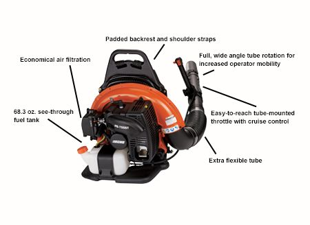 ECHO PB-755ST BackPack Blower with Specs