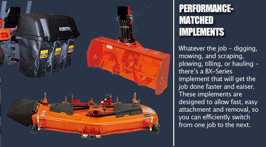 Performance matched implements