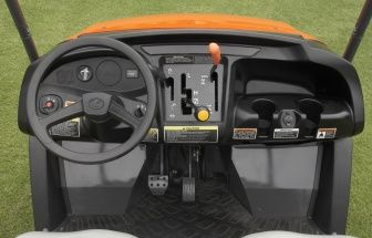 Select high, low or reverse ranges and 2WD or 4WD. Engage the rear differential lock with a simple lever