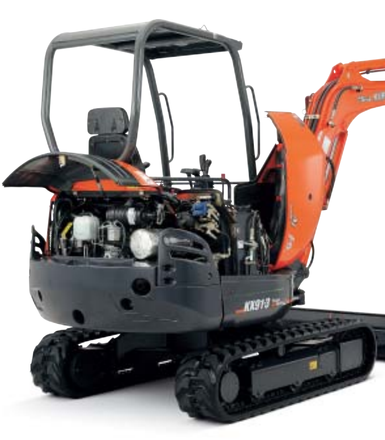 Side and rear covers open wide with the main components centrally located, giving quick and easy access to all vital areas.