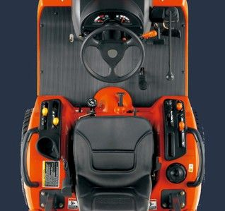 Spacious operator area -The pedal layout on BX-Series tractors helps aid operator comfort.