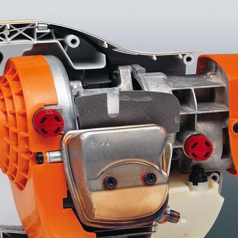 STIHL BT45 anti-vibration system