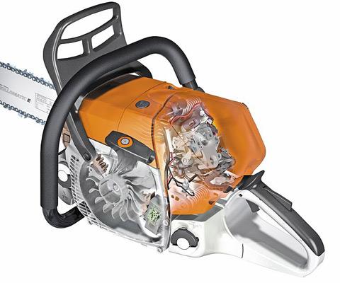 The engine management STIHL M-Tronic (M) system ensures optimum engine performance, constant maximum speed and excellent acceleration.
