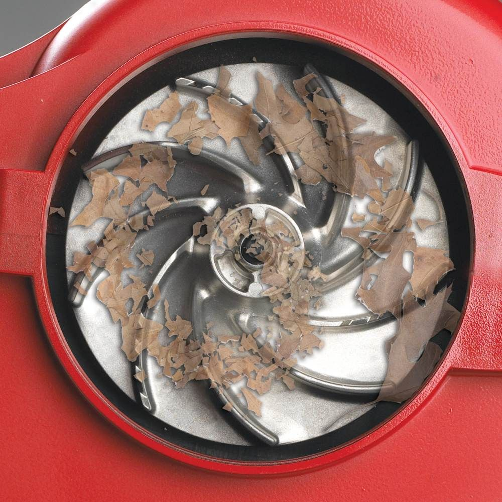 Close up of the metal impeller