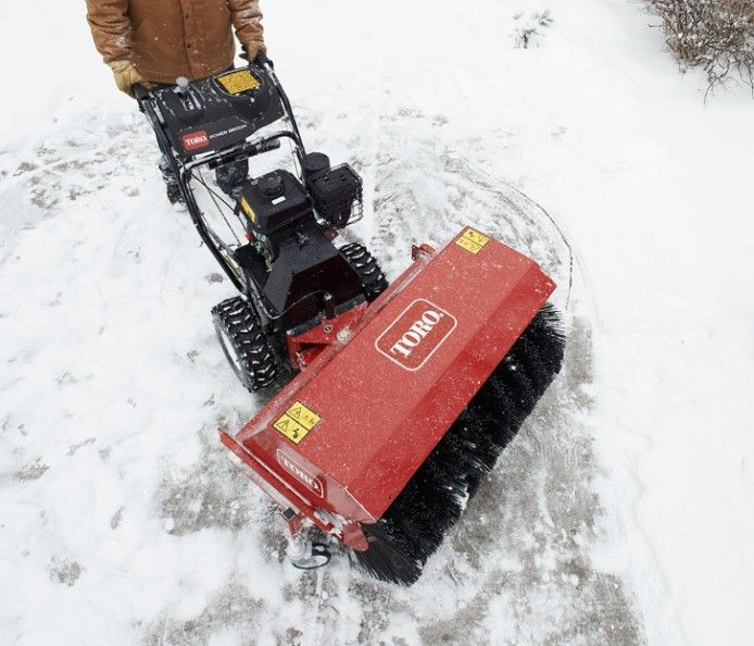 Toro's Power Broom removes snow right down to the pavement