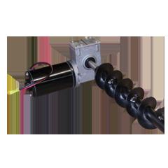 Transverse auger transmission