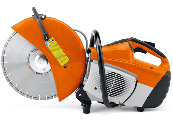 STIHL TS480i Cut-off saw opposite view