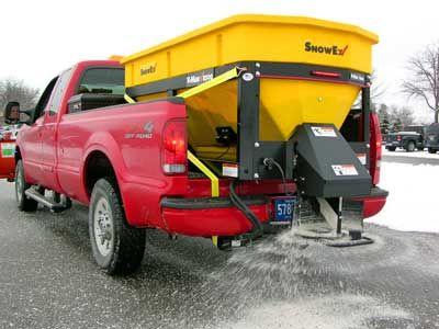 SnowEx SP-8500 Spreader insalled on truck