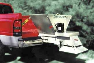 DownEaster 2' Electric Stainless Steel 1/3 yard capacity Tailgate Spreader