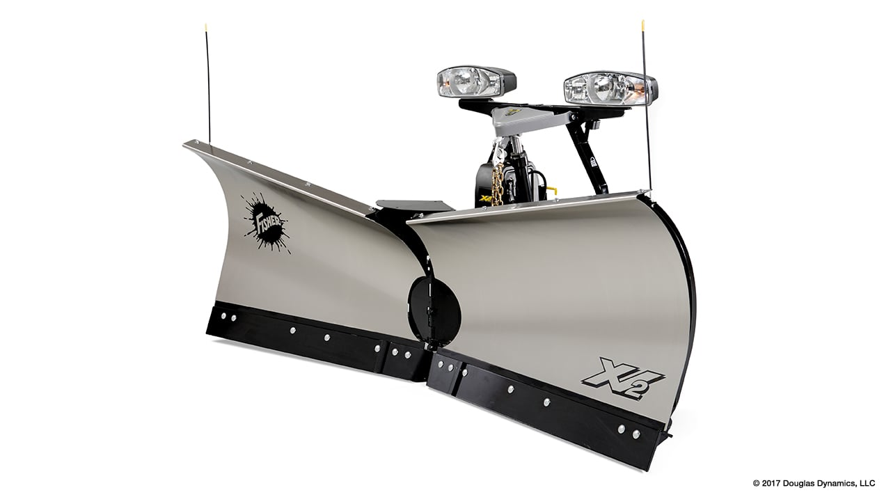 "Fisher 9'6"" XtremeV Stainless Steel V-Plow"