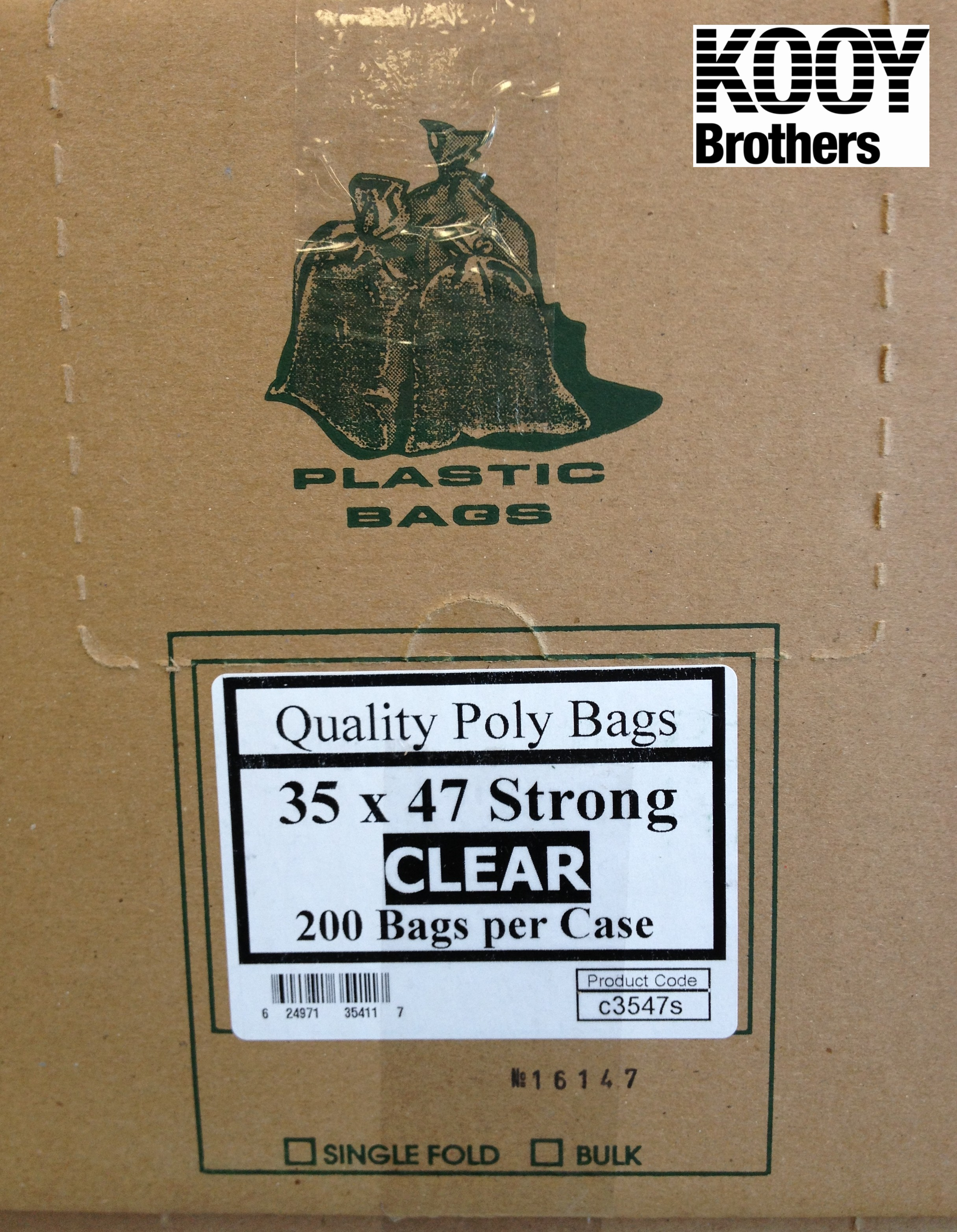 Clear Plastic Garbage Bags