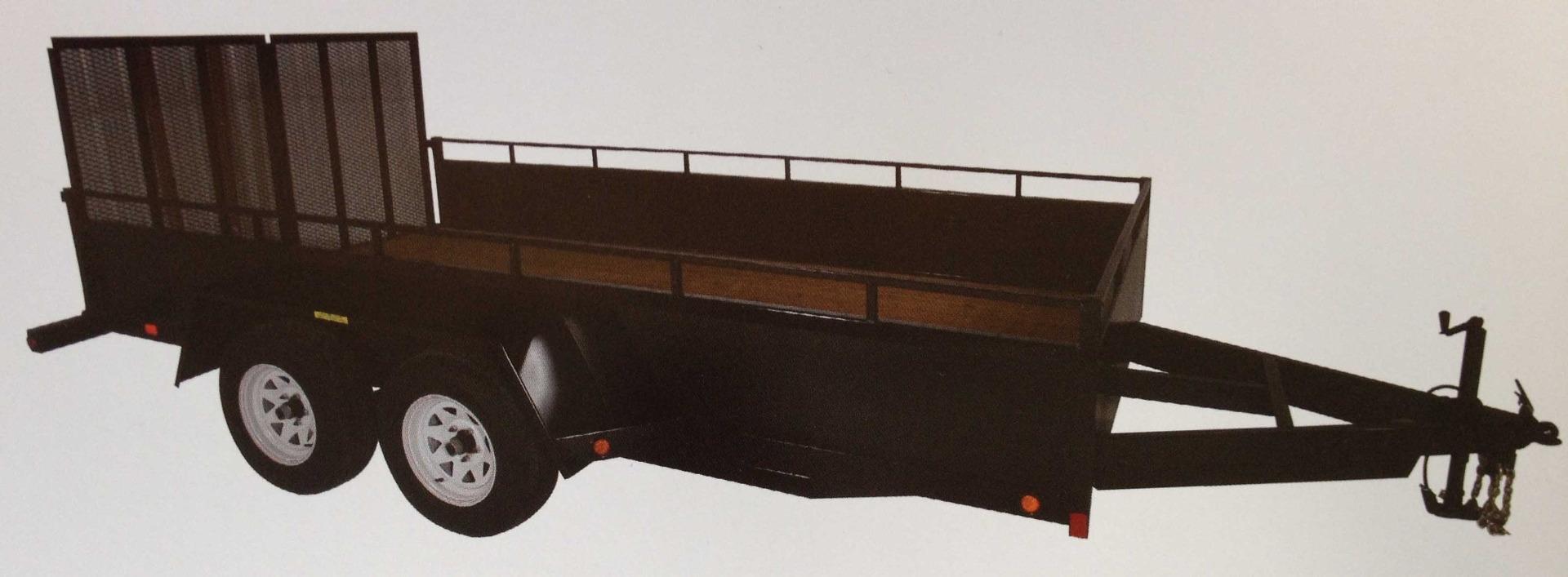 "JDJ General Duty Landscape Tandem Trailer (6'8"" W x 14' L) GDLT 8014"